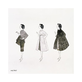 Three Female Fashion Figures  c 1959