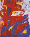 Abstract Painting  c 1982 (Indigo  Red  White)