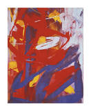Abstract Painting, c. 1982 (Indigo, Red, White) Giclée par Andy Warhol