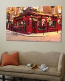 Le pub Temple bar dans le quartier de Temple bar (Dublin) Toile Murale Géante par Eoin Clarke