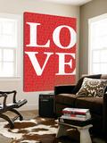 Red Love Toile Murale Géante par Avalisa