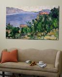 View of Mount Mareseilleveyre and the Isle of Maire, circa 1882-85 Toile Murale Géante par Paul Cézanne