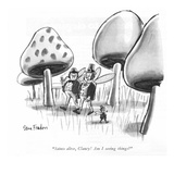 """Saints alive  Clancy! Am I seeing things"" - New Yorker Cartoon"