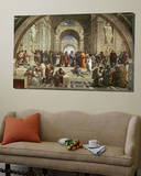 L'école d'Athènes Toile Murale Géante par Raphael