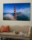 Golden Gate Bridge with Mist and Fog  San Francisco  California  USA