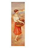 Girl with Basket of Fish  C 1889