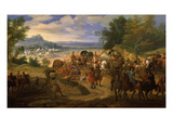 French Army Camped Between St Sebastien and Fontarabie  1719