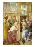 Adoration of the Magi  Fresco  C1520-5  Painted for a Greco-Milanese Oratory Near Milan