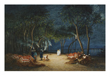 Camping at Night by the Nile  Her Majesty Empress Eugenie  1826-1920
