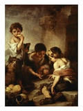 Young Beggars Playing Dice