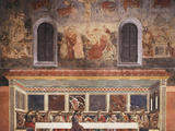 Interior with Crucifixion  Deposition in Sepulchre  Resurrection and Last Supper  Fresco C1444-50
