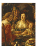 The King Drinks  Family Meal on the Day of the Celebration of Kings  C1640  Detail
