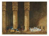 Meal in an Egyptian Temple  Her Majesty Empress Eugenie  1826-1920