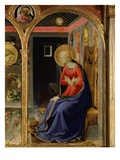 Virgin Mary  from the Annunciation  C 1440  Altarpiece from Convent of Montecarlo (Detail)