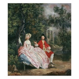 Conversation in a Park  Probably a Portrait of the Artist and His Wife  Margaret Burr  1728-98