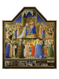 The Coronation of the Virgin  C1435  Predella of Entombment of Christ and Scenes of St Dominic