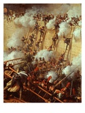 Soldiers Scaling Walls  from Attack on and Capture of Ratisbon  France  by Marshal Lannes