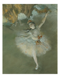 L'Etoile Ou Danseuse Sur Scene  the Star or Dancer on Stage  Pastel  C 1876  Detail