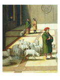 Flock of Sheep  David and Nathaniel Meeting in Jerusalem  from the History of David