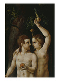 The Original Sin  Adam and Eve  Triptych  16th Century  Detail