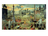 Les Massacres Du Triumvirat (Massacres of the Triumvirate)  Painted in 1566