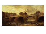 Démolition Des Maison Du Pont Notre-Dame  En 1786