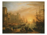 Port De Mer Au Soleil Couchant (Sea Port with Setting Sun)  1639