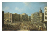 Carnival in Naples  Italy  Showing St Ferdinand Square and the Royal Procession