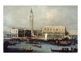View of Doge's Palace and Grand Canal Venice  18th Century