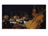 Still Life with Musical Instruments  1623
