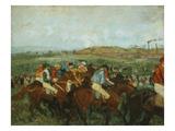 Course De Gentlemen Avant Le Depart  Gentlemen's Race before the Start  1862