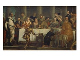 Christ at the Marriage Feast at Cana (Where He Turned Water into Wine)  127X209Cm