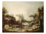 Rural Landscape with Pond  1746