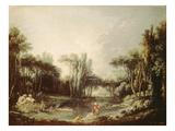 Rural Landscape with Pond  1746