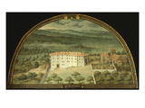 Monte Viturino  Tuscany  Italy  from Series of Lunettes of Tuscan Villas  1599-1602