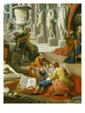 Drawing Students Copying Antiquities  from Gallery of Views of Ancient Rome  1758