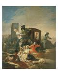 The Crockery Seller  Tapestry Cartoon  1778