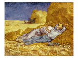 La Méridienne Ou La Sieste  Siesta at Noon  after 1866 Pastel Drawing by Millet  1890