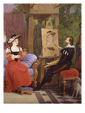 Rubens at His Easel  Rubens Painting Susanna Fourmet  Le Chapeau De Paille  in His Studio  1826