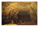 Cave Hewn from Rock and Used as Salt Warehouse  Dieppedale  Near Rouen  France