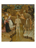 Baptism of Christ  Predella of Retable from Vic Cathedral  1427-37