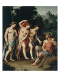 Judgement of Paris  (Trojan Prince Judging the Most Beautiful of Goddesses Juno  Minerva  Venus)