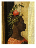 Young Black Page of King Gaspard with Apple on Head  from Adoration of the Magi  Tripytch