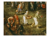 Servants Bringing Food  from Wedding Feast Presided over by the Archdukes (Of Austria) (Detail)