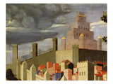 Temple  Walls and Houses  Jerusalem  from Deposition of Christ  1435