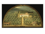Villa La Magia  Tuscany  Italy  from Series of Lunettes of Tuscan Villas  1599-1602