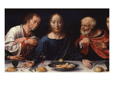 Last Supper  Predella from Three-Part Retable  Paint on Wood  C 1530-40