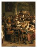 Fête in an Inn  1674 (Detail of Table)