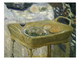 Standing Basket with Fruit  Bread and Glass of Wine  from Le Déjeuner  Lunch  C 1873-74  Detail