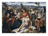 Lamentation of Christ  Centre Section of Three-Part Retable  Paint on Wood  C 1530 - 40